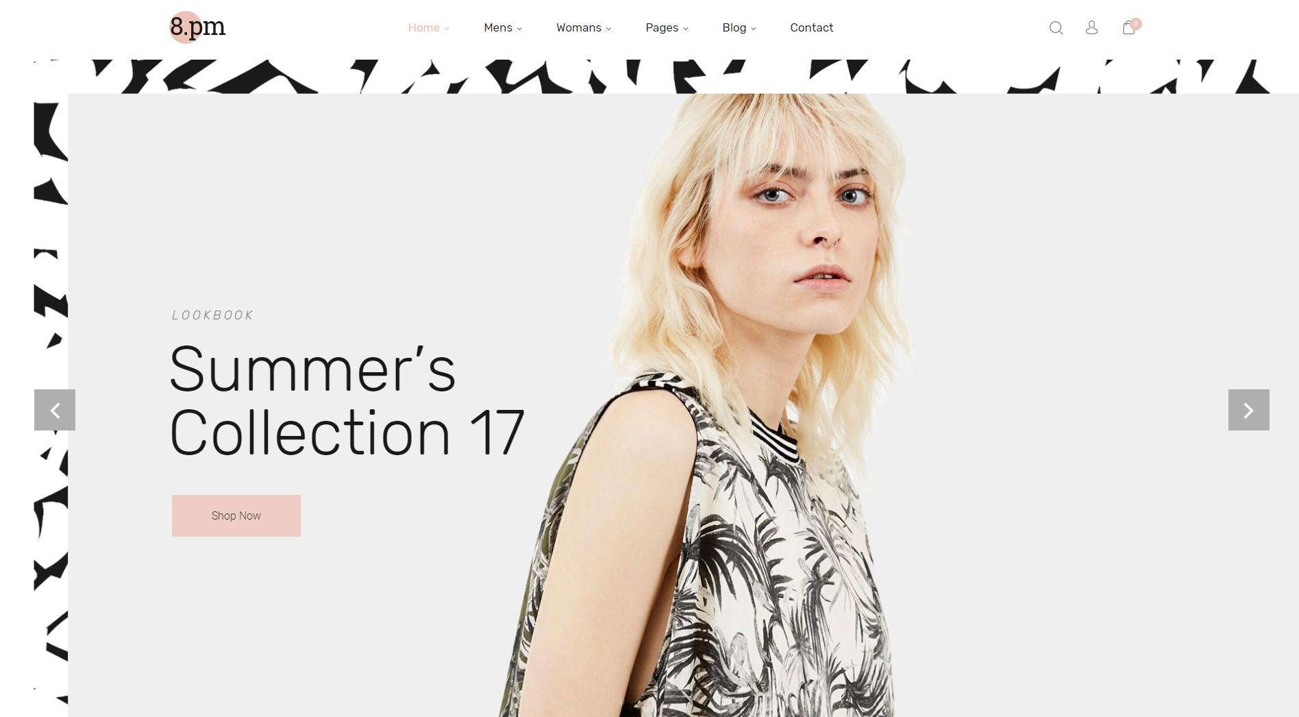 Eightpm - Free WordPress Theme Fashion Store