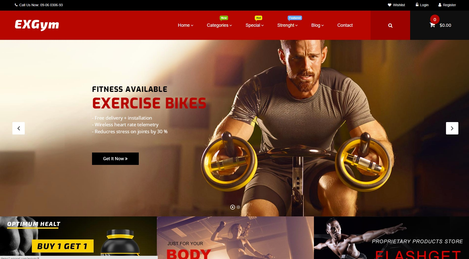 Exgym - Free Gym WordPress Theme