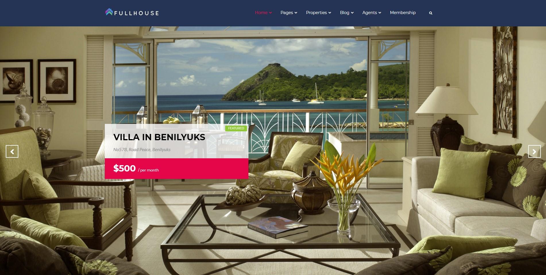Fullhouse best Real Estate WordPress Themes