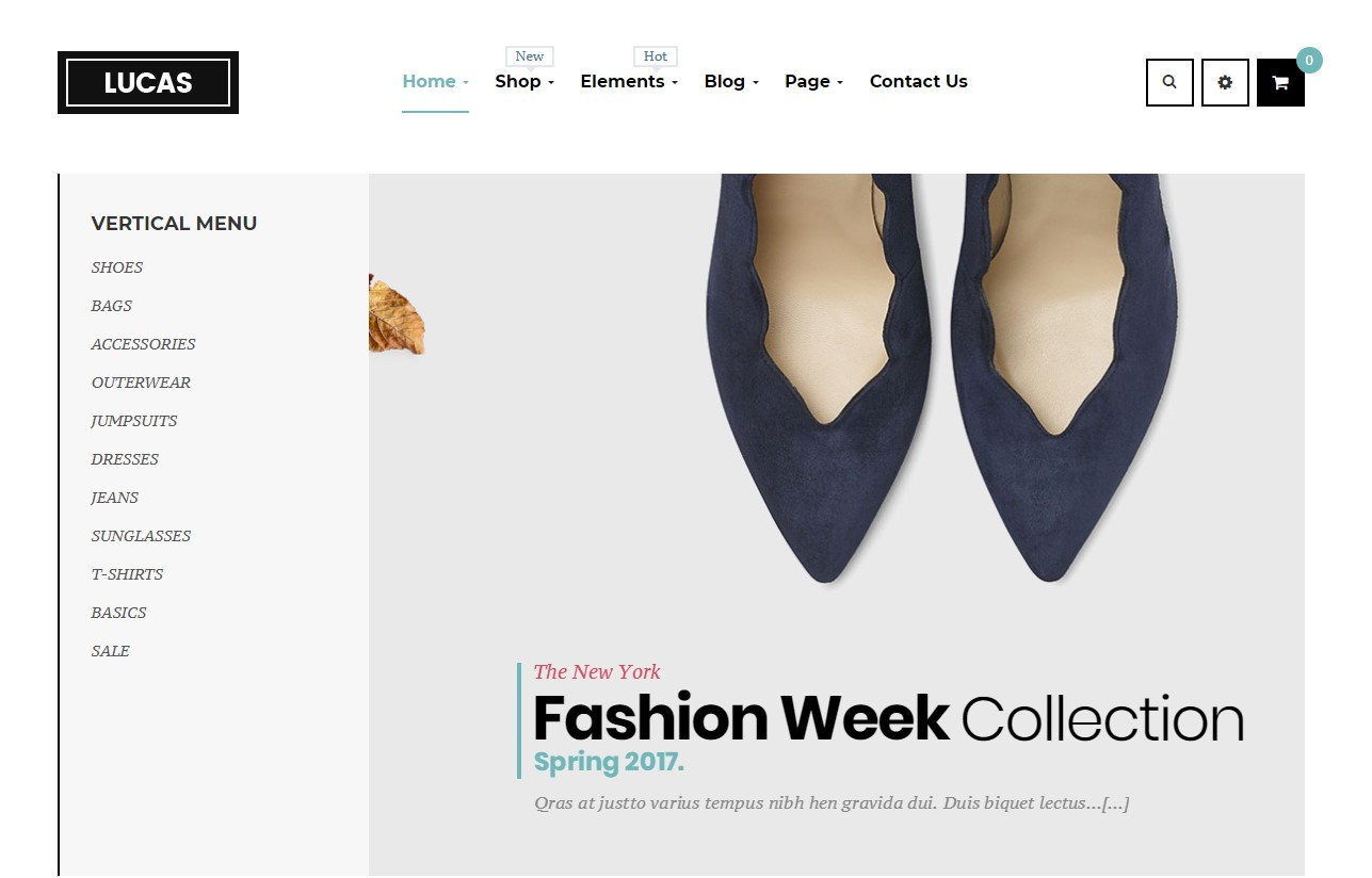 Lucas - Free WordPress Theme Fashion