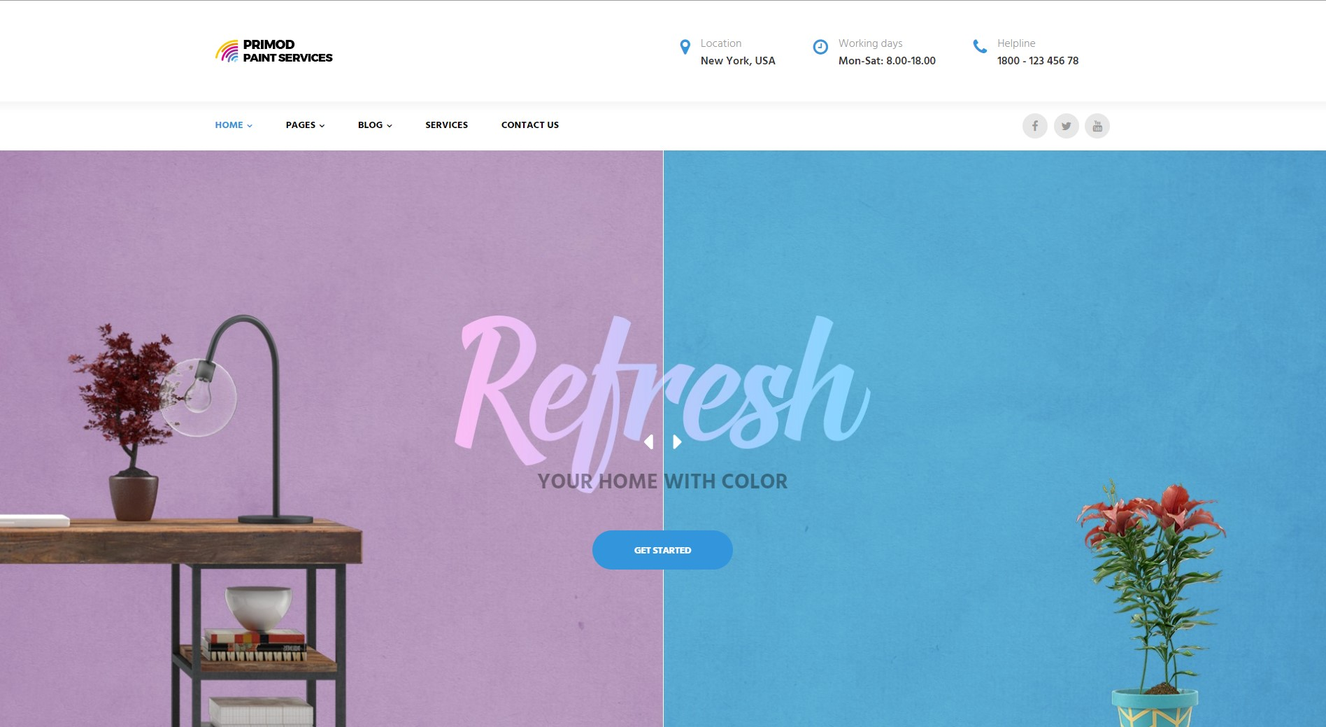 Primod - Free WordPress Theme for Paint Store