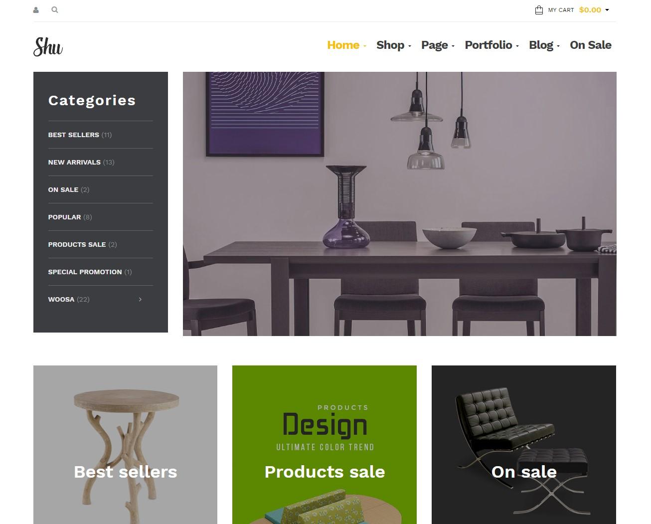 Shu - Free WordPress Theme Furniture