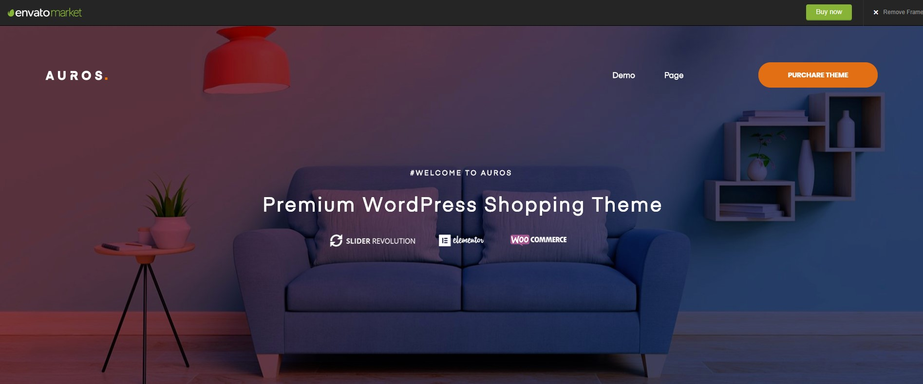 Auros Furniture WordPress Theme