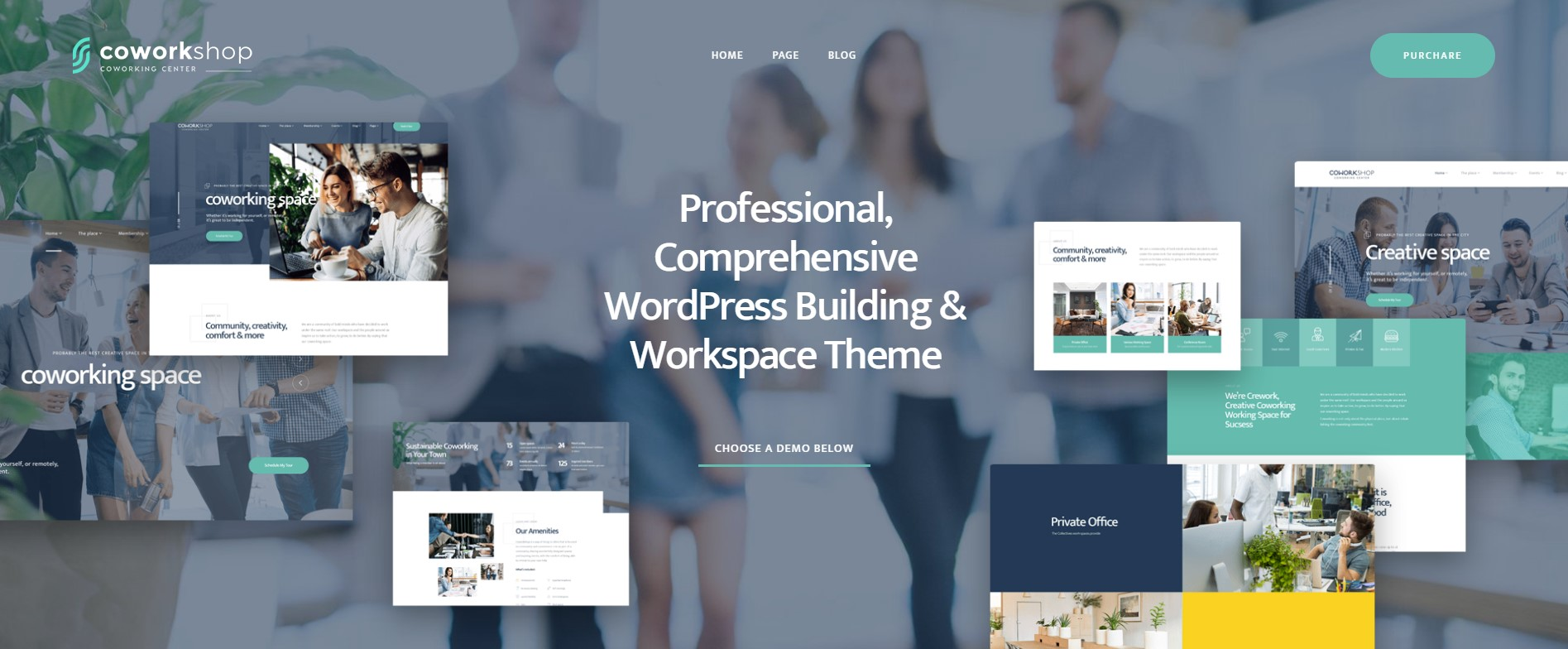 Coworkshop Work Space WordPress Theme