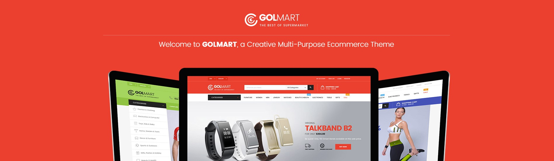 Golmart Supermarket WordPress Theme