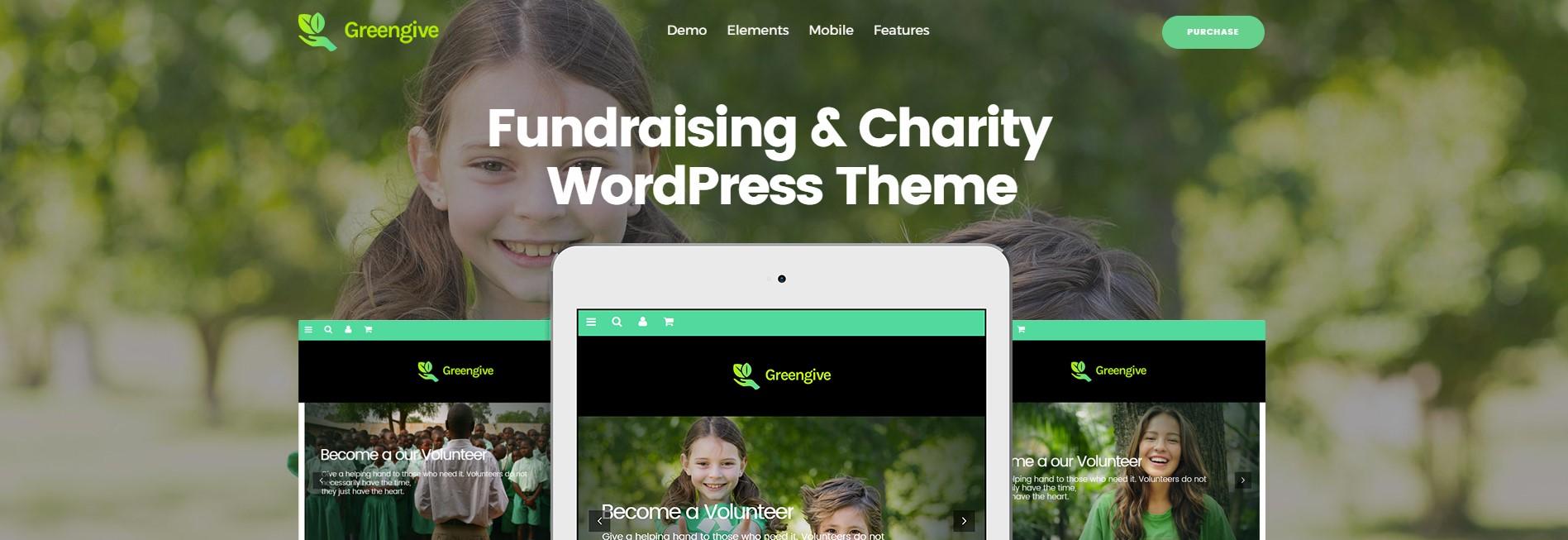 GreenGive Fundraising Charity WordPress Theme