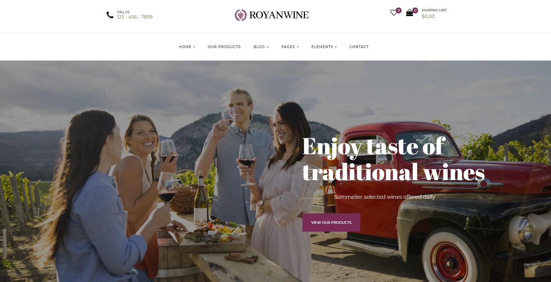 Royanwine Wine Store WordPress Theme