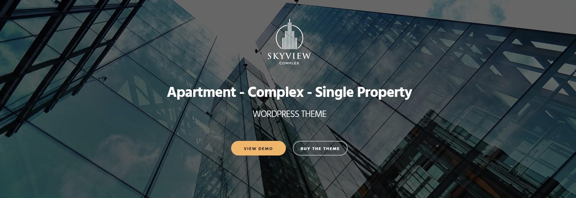 Skyview Single Property WordPress Theme