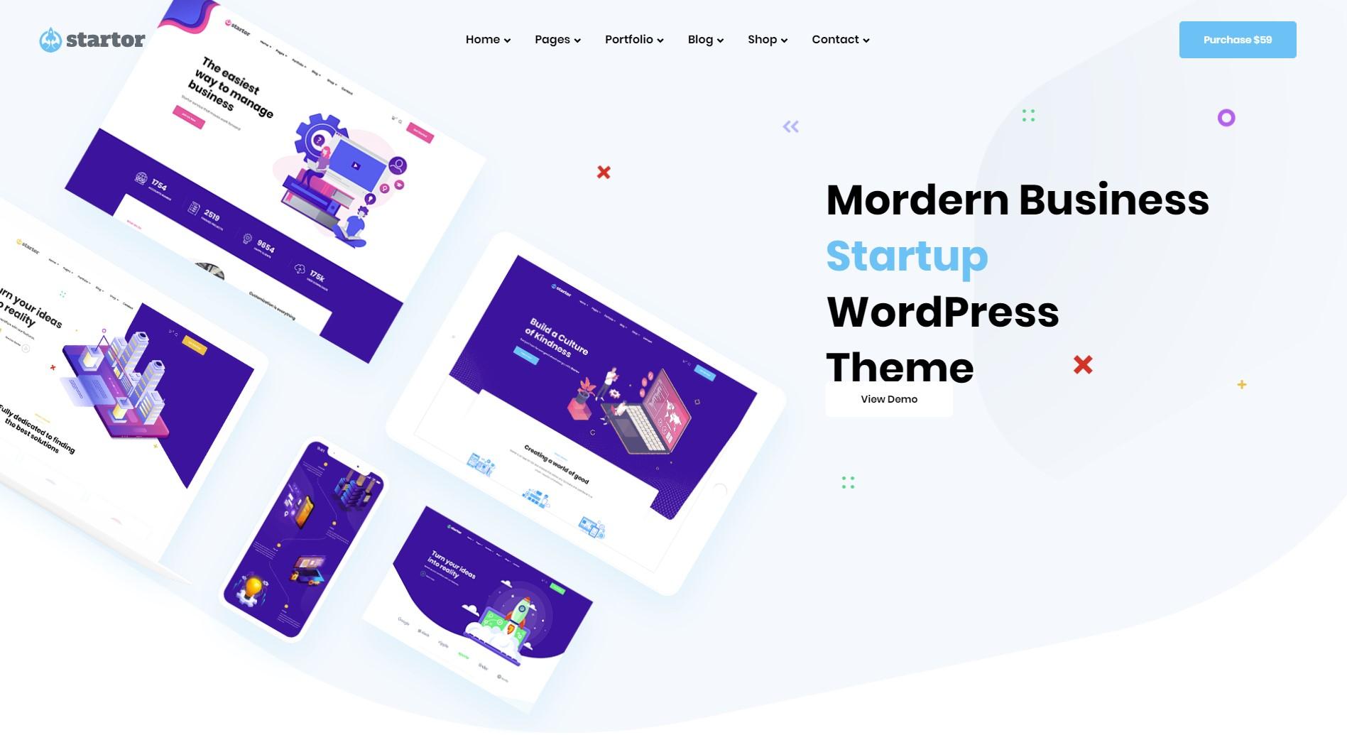 Startor Business Startup WordPress Theme