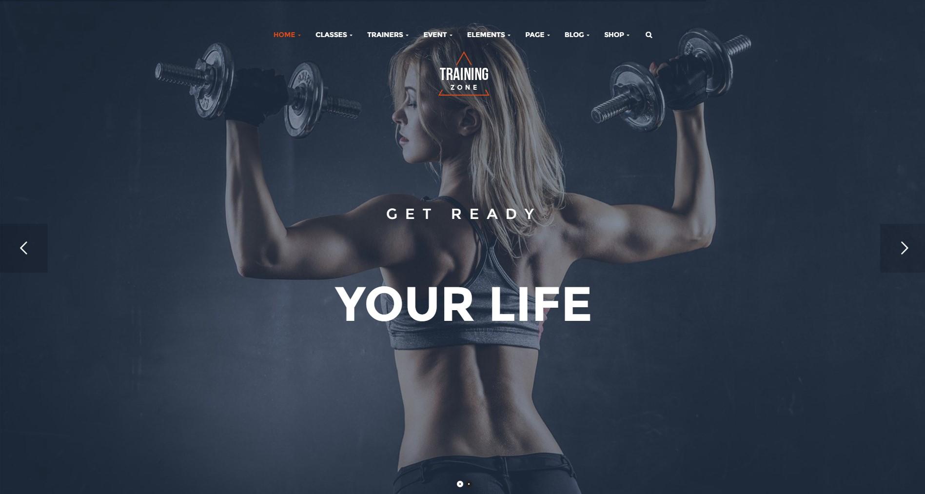 Training Zone Gym & Fitness WordPress Theme