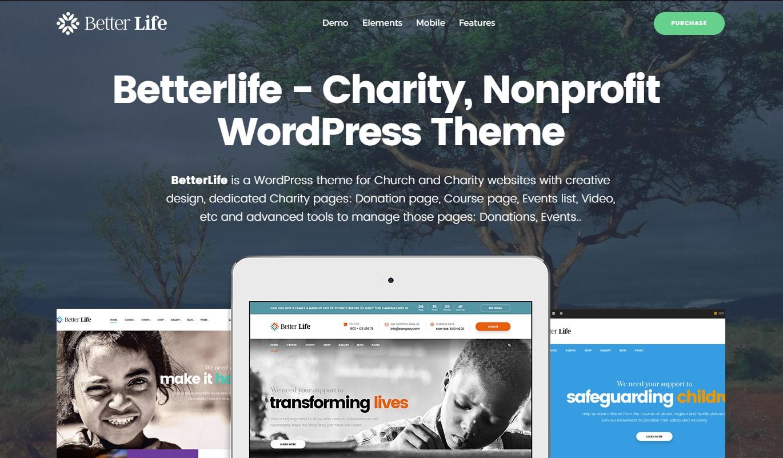 Betterlife Clean & Minimalist WordPress Theme