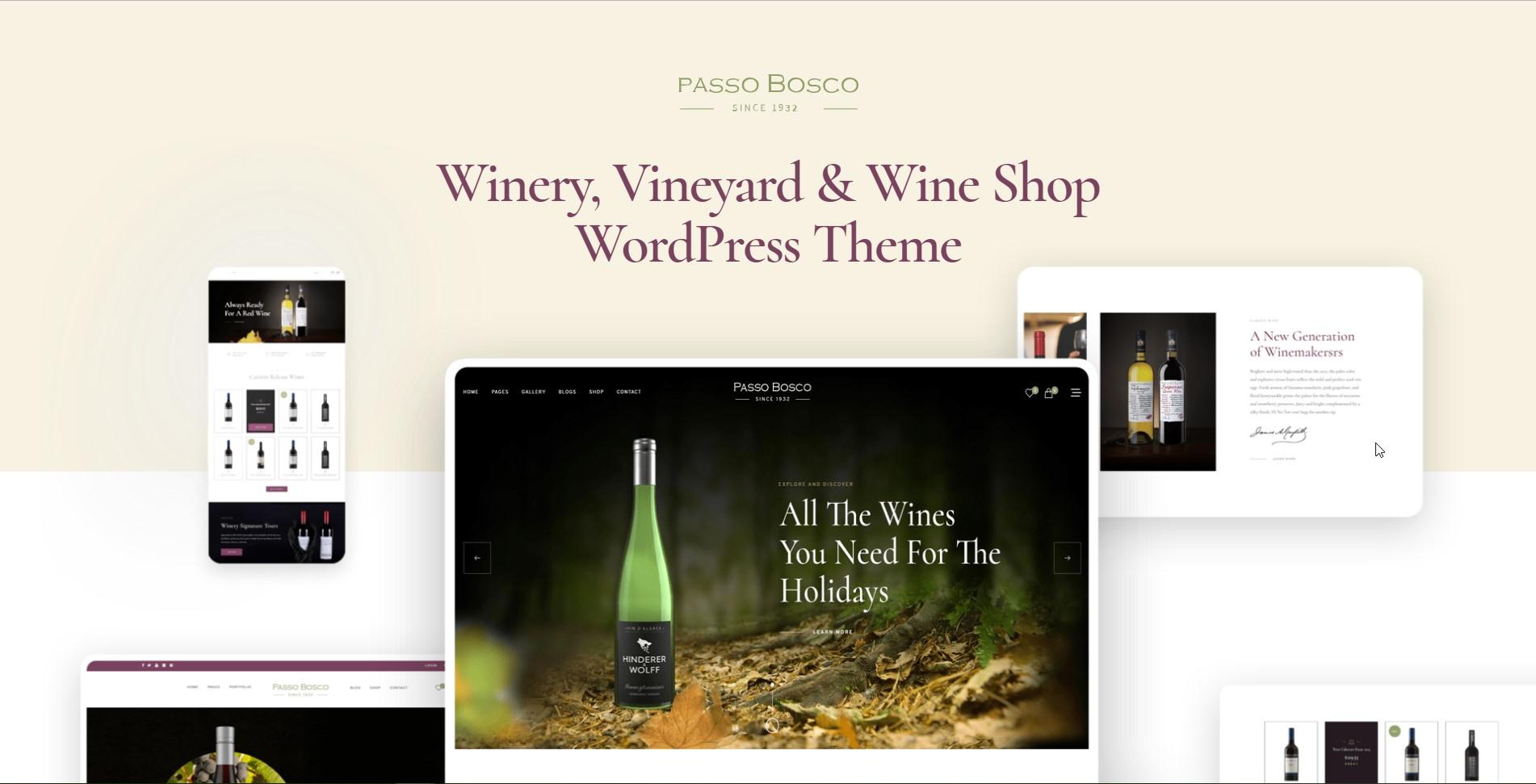 Passo Bosco Wine & Winery WordPress Theme