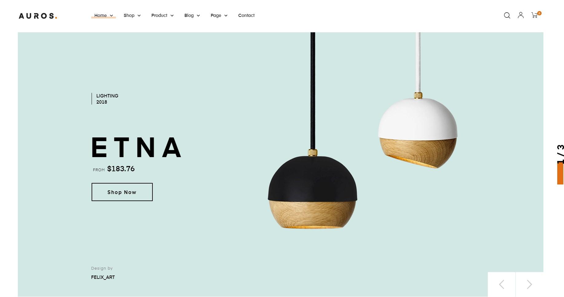 Auros Minialist WordPress Theme