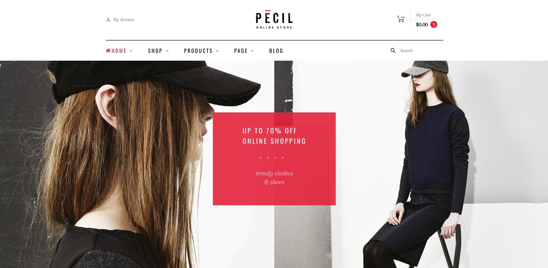 Pecil Minimalist WordPress Theme