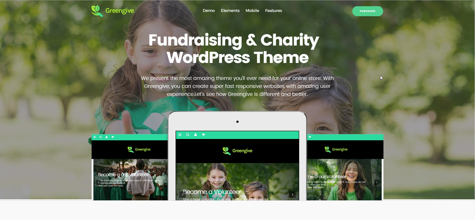 GreenGive - Fundraising WordPress Theme