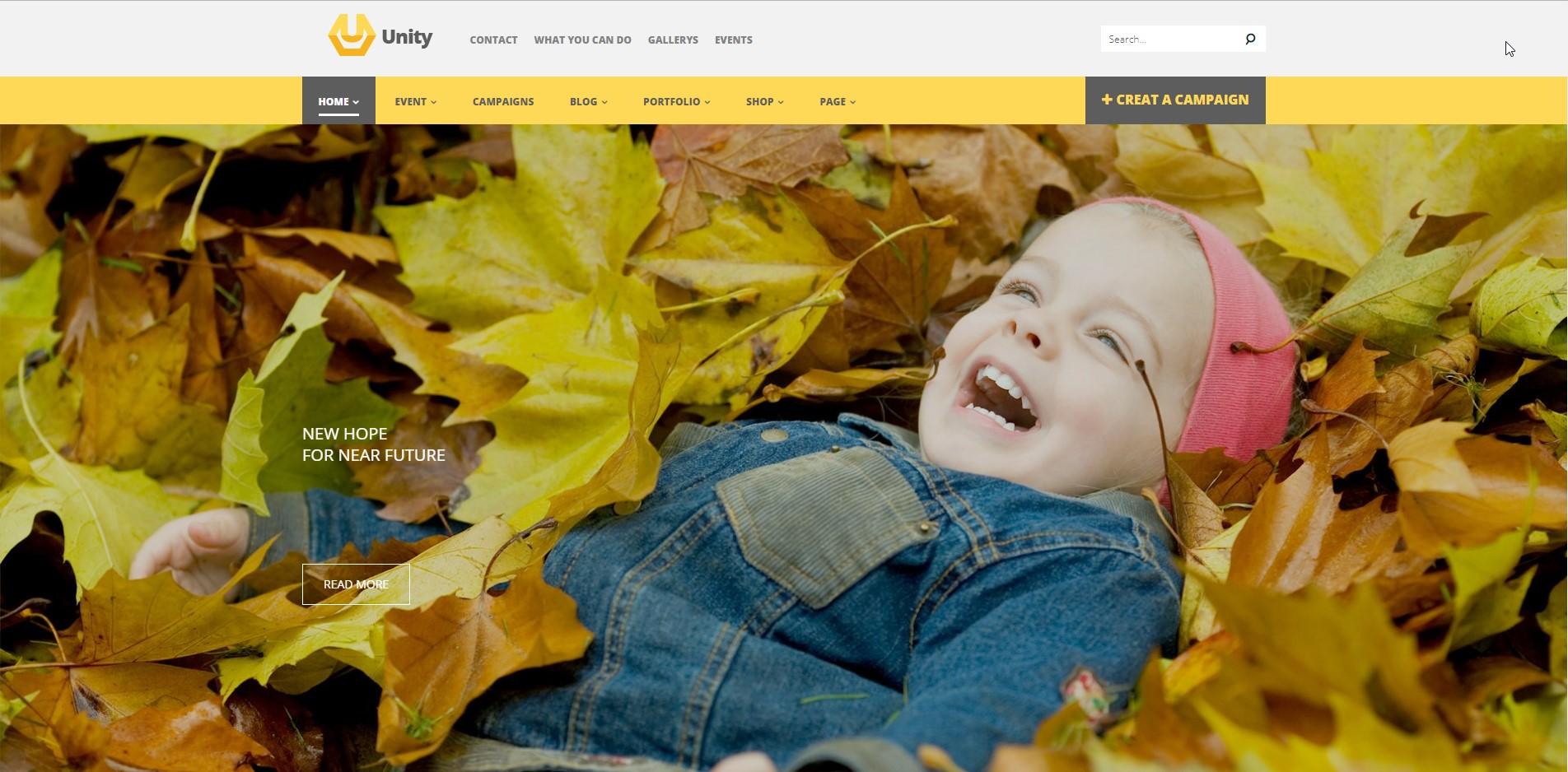 Unity - Charity WordPress Theme
