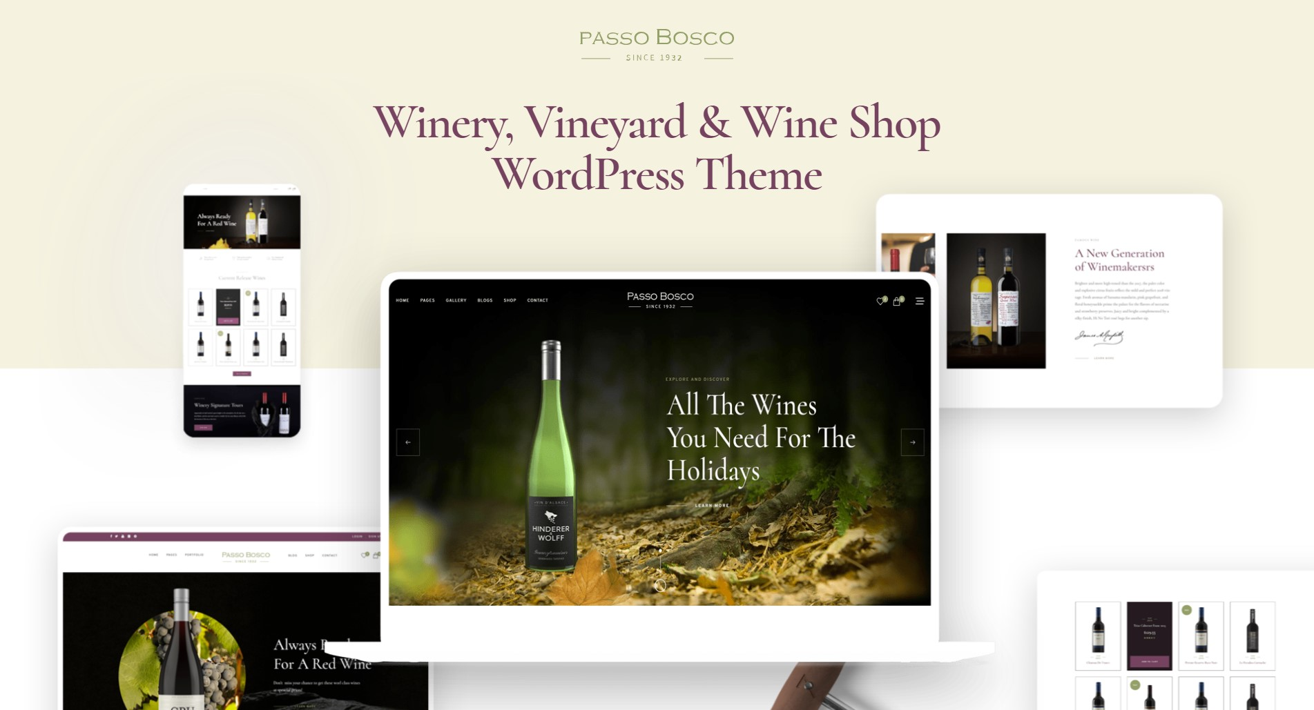 passo-bosco restaurant wordpress theme