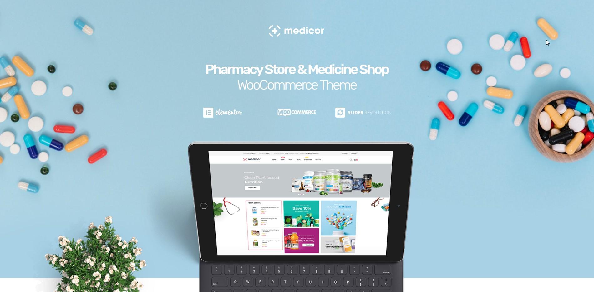 Medicor - Pharmacy & Medicine Shop WooCommerce Theme