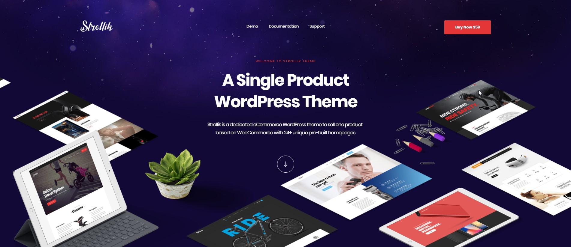 Strollik - Single Product WooCommerce Theme