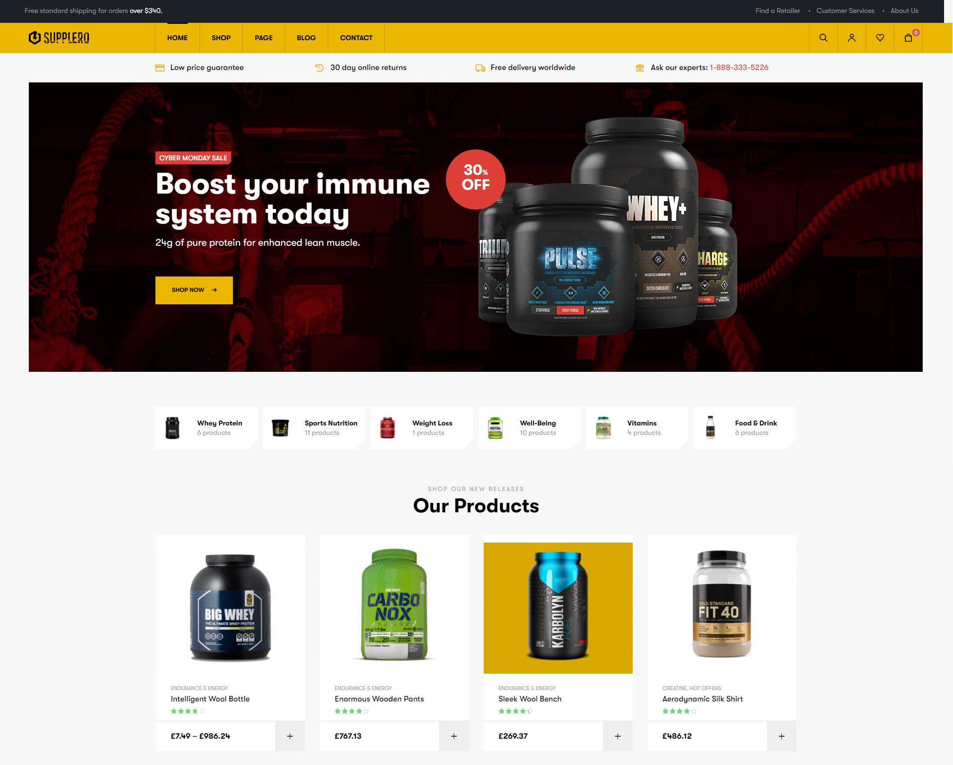 Supplero - Supplement Store Premium WooCommerce Themes