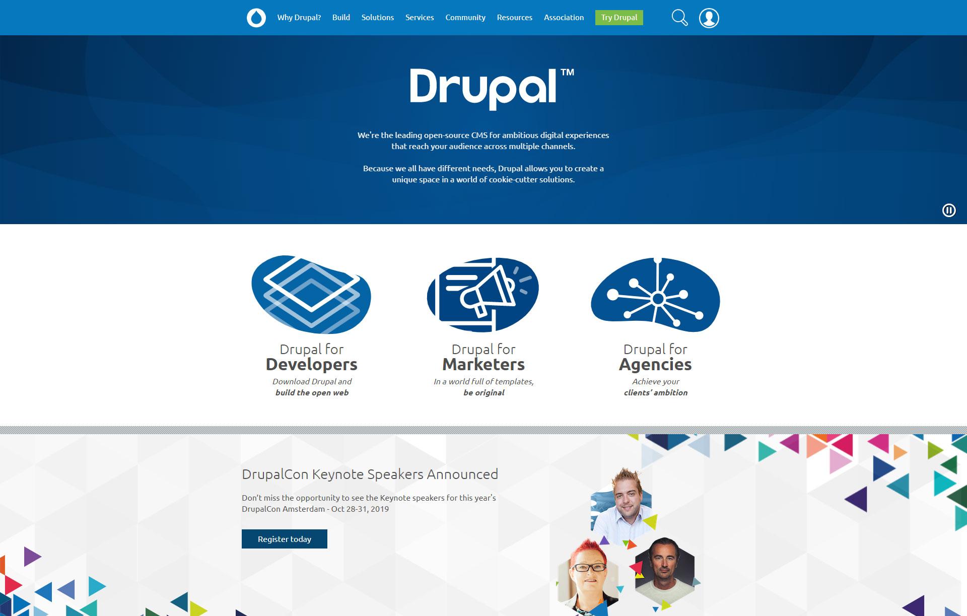 Drupal - Best Free Content Management System