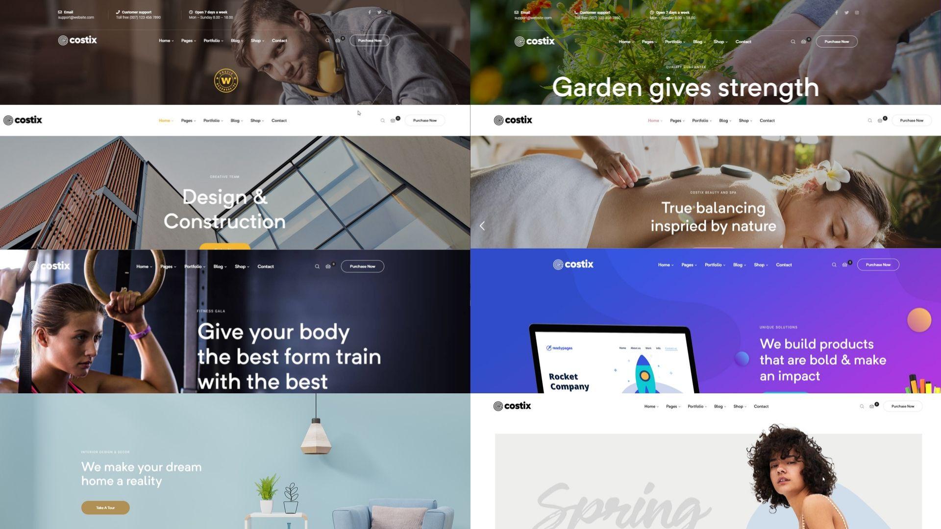 Costix homepages - multipurpose WordPress theme