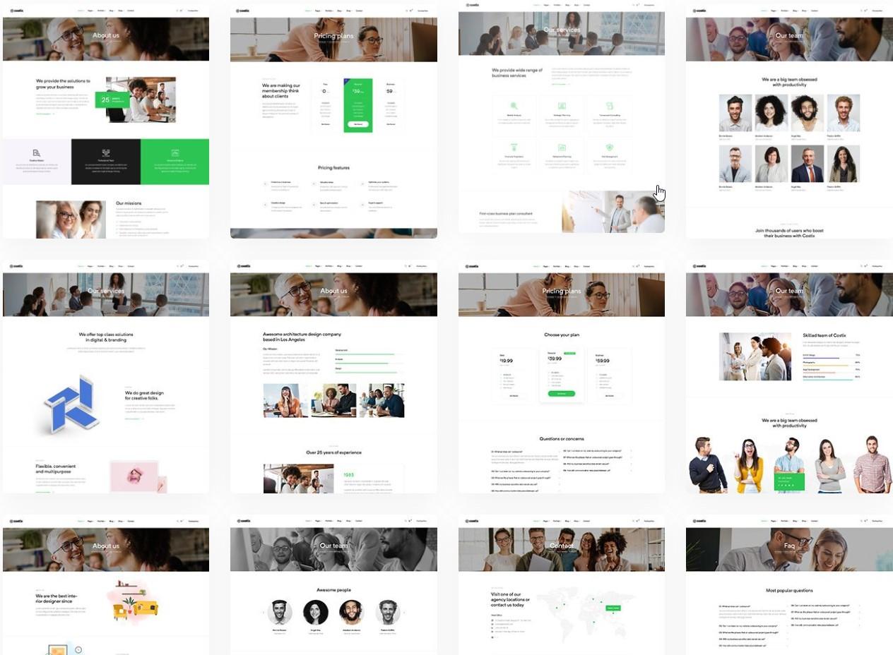 Costix Pages - multi purpose WordPress Theme