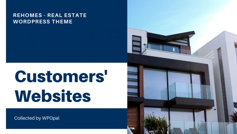 wpopal Rehomes real estate wordpress theme customer's websites