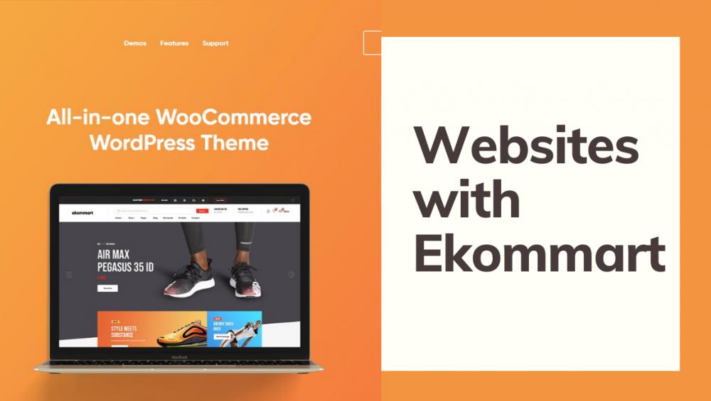 Websites with Ekommart multipurpose WooCommerce theme