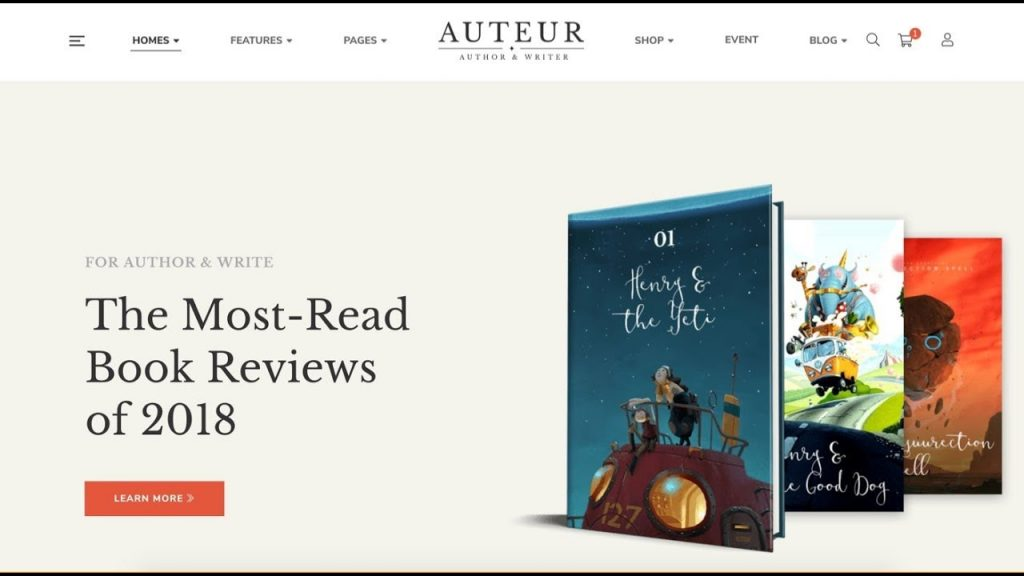 Auteur Best WordPress Themes For Writers