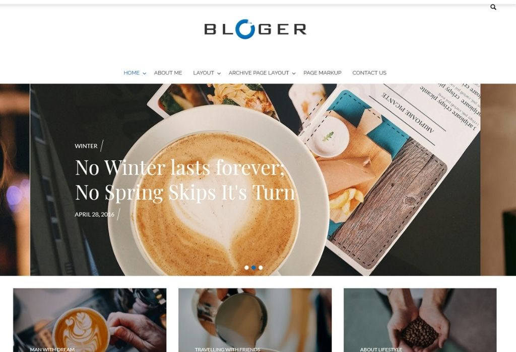 Bloger Best WordPress Themes for Writers