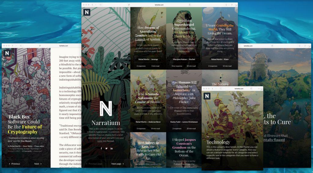 Narratium Best WordPress Themes for Writers
