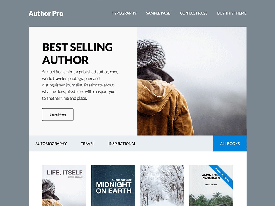 Author Pro Best WordPress Themes for Writers