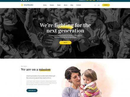 Humani - Nonprofit & Charity WordPress Theme - wpopal
